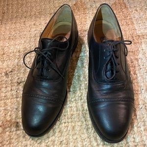 BALLY Black Leather Lace Up Shoes